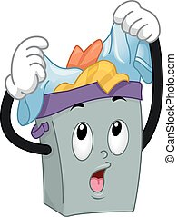 Mascot Hamper Overloaded Clothes