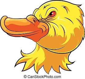 Mascot Head of an angry duck