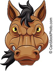 Mascot Head of an angry horse