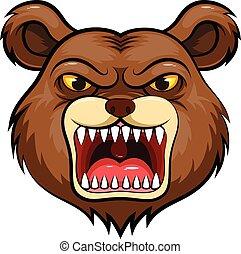 Mascot Head of an bear