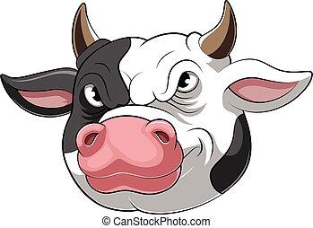 Mascot Head of an cow cartoon