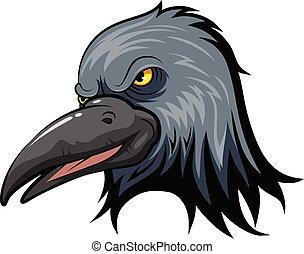 Mascot Head of an crow