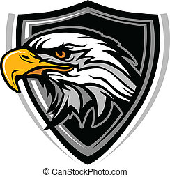 Mascot Head of an Eagle Vector Illu - Eagle Head Vector ...