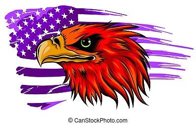 Mascot Head of an Eagle vector illustration