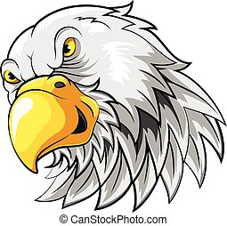 Mascot Head of an falcon