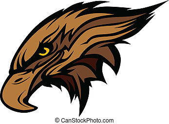 Mascot Head of an Falcon or Hawk Ve - Hawk or Falcon Head ...