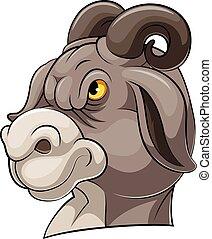 Mascot Head of an goat