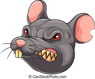 Mascot Head of an mouse
