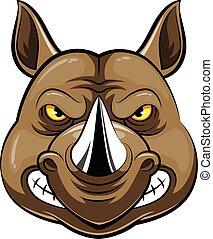 Mascot Head of an rhino