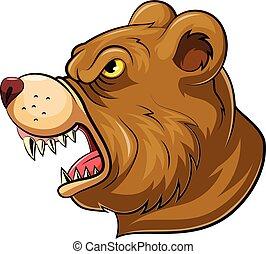 Mascot Head of an roaring bear