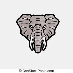 Mascot Head of elephant logo
