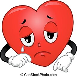 Mascot Heart Sad
