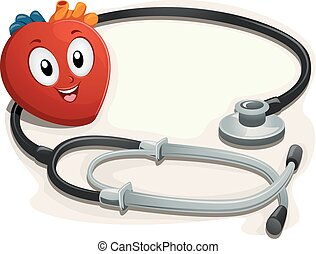 Mascot Heart Stethoscope