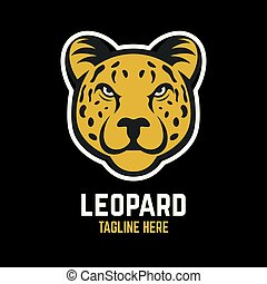 Mascot leopard logo