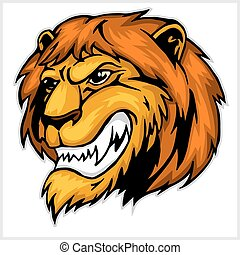 Mascot Lion head illustration