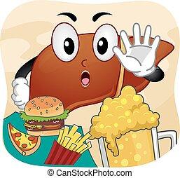 Mascot Liver No Fast Food Beer
