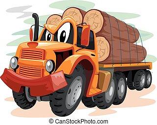 Mascot Logging Truck