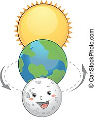 Mascot Lunar Eclipse - Mascot Illustration of the Earth ...