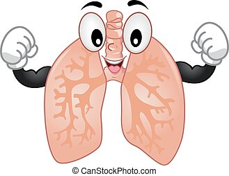 Mascot Lungs Strong - Mascot Illustration of the Lungs...