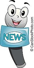 Mascot Mic News Illustration