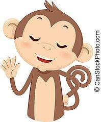 Mascot Monkey Count Five