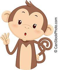 Mascot Monkey Count Four 4