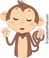 Mascot Monkey Count Nine 9