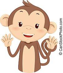 Mascot Monkey Count Ten 10