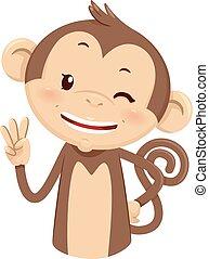 Mascot Monkey Count Three