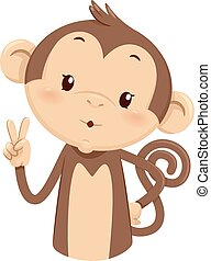 Mascot Monkey Count Two 2