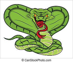 Mascot of Angry Snake Illustration