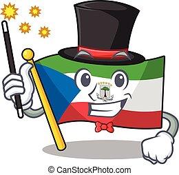 Mascot of flag equatorial guinea Scroll performance as a ...