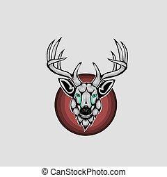 Mascot of head deer