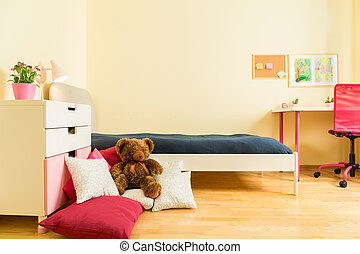 Mascot on pillows - Cute children mascot on colorful pillows...