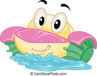 Mascot Paddle Boat Illustration
