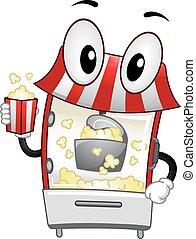 Mascot Popcorn Machine Handling