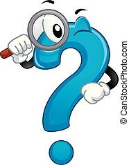 Mascot Question Mark Search Answer Illustration