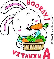Mascot Rabbit Vitamin A - Mascot Illustration Featuring a...