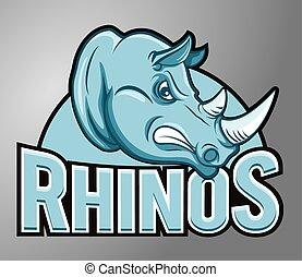 Mascot rhino