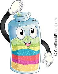 Mascot Sand Bottle Illustration