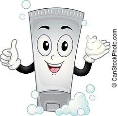 Mascot Shampoo Illustration