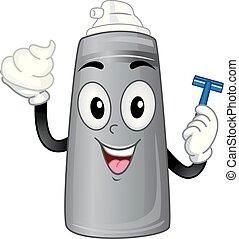 Mascot Shaving Cream Illustration - Illustration of Shaving...