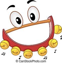 Mascot Sleigh Bells Jingle - Musical Instrument Mascot ...
