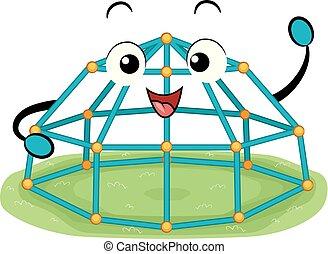 Mascot Space Pod Dome Climber Illustration - Illustration of...