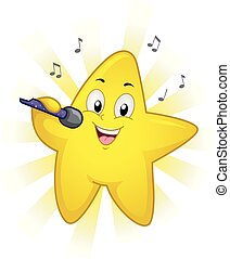 Mascot Star Singer Illustration