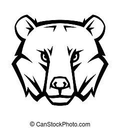 Mascot stylized bear head.