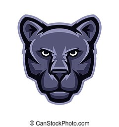Mascot stylized cougar head. Illustration or icon of wild ...