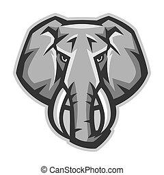 Mascot stylized elephant head.