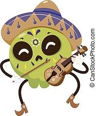 Mascot Sugar Skull Violinist