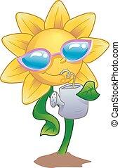 Mascot Sunflower Drink Water